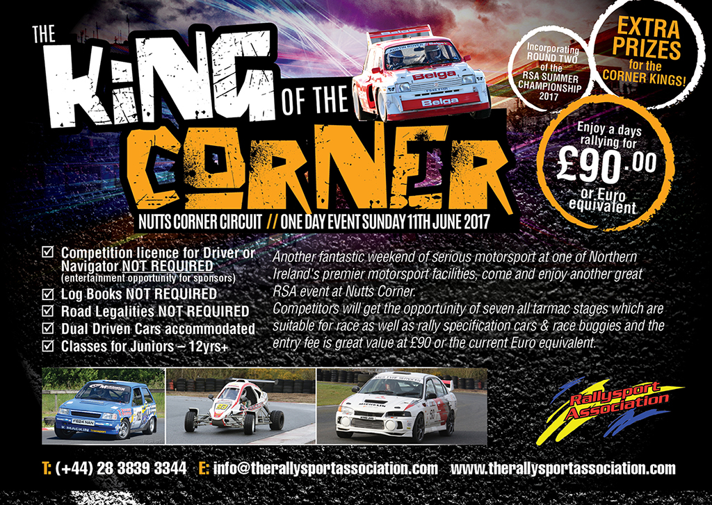 King of the Corner Rally Race Event Northern Ireland