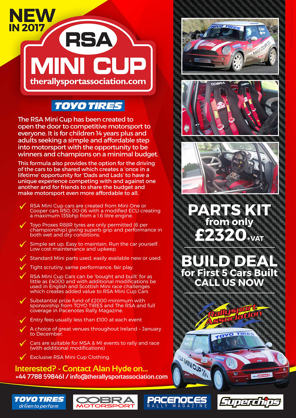 The RSA Mini Cup event details and entry information. The Rallysport Association Northern Ireland